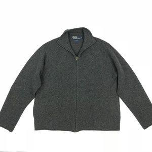 Polo Ralph Lauren Mens Lambswool Sweater Full Zip